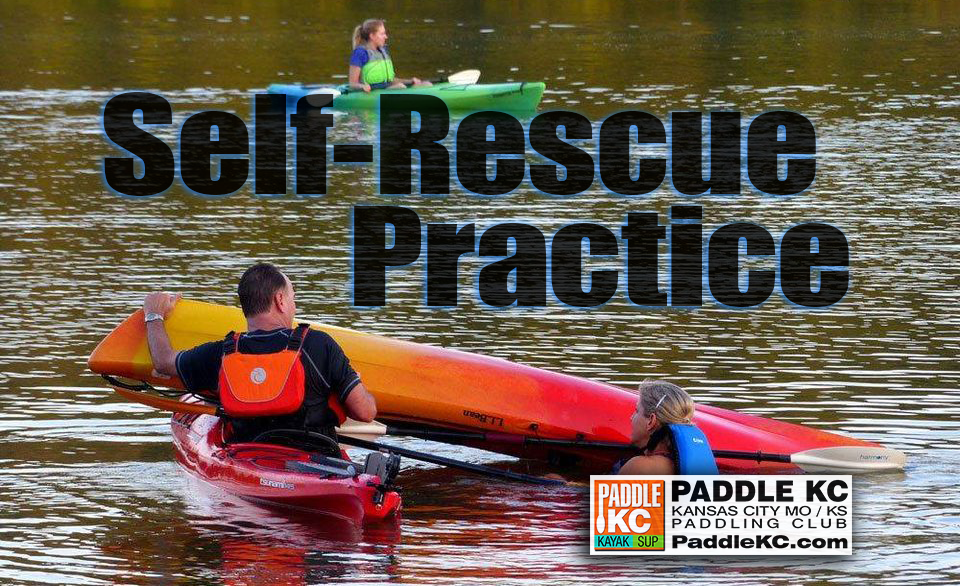 Kayak Self-Rescue Practice with Paddle KC